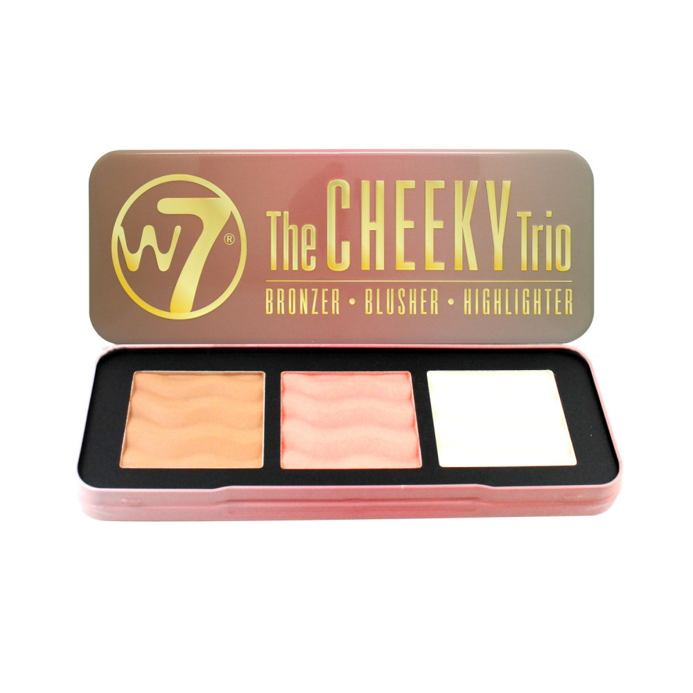 W7 Cheeky Trio Makeup Palette - Bronzer, Blusher & Highlighter